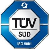 TÜV Logo für die Zertifizierung nach ISO 9001